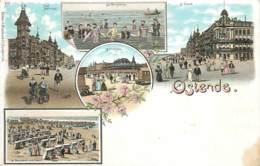 Belgique - Ostende - Type Gruss Aus - Les Baigneurs - Le Kursaal - Villa Neptune - La Digue - Oostende