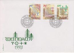 Liechtenstein 1993 Christmas 3v FDC (43850) - FDC