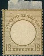 1872, 18 Kreuzer Großer Brustschild Ungebraucht, - Mi-Nr. 28 * - Deutschland