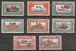 SUDAN 1950 AIR OFFICIALS SET SG O59/O66 LIGHTLY MOUNTED MINT Cat £28 - Soudan (...-1951)