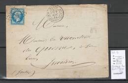 France - Paris Losange Etoile De Paris 20 Avec Cachet Rue Saint Dominique .56 -1865 - Postmark Collection (Covers)