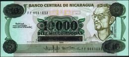 NICARAGUA - 10.000 Cordobas 1985 (1989) AU-UNC P.158 - Nicaragua