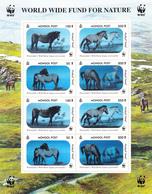 Mongolia 2000 WWF Animal Horse Sheetlet Hologram - Mongolei
