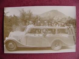 Autobus à Gaz 1946 S.L.A. Lourdes Excursions Voyages Après Guerre WWII - Plaatsen