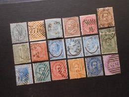 Mi 16-20/ 56/ 23+24/ 25 L+ll+lll/ 51/ 26a/ 37A-40A/ 42A - 1863-1890 - Mi 73,00 € - 1861-78 Victor Emmanuel II.