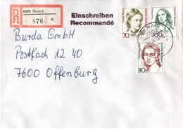 ! 3 Einschreiben 1993  Mit Alter Postleitzahl + DDR R-Zettel  Aus Gera 6502,6503,6504 Thüringen, - BRD