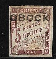 Obock Taxe N° 18 Neuf *. Cote YT 630€ - Ungebraucht