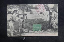 """INDOCHINE - Cachet """" Sous Marins Saïgon """" Sur Carte Postale Pour La France En 1907 - L 36687 - Indochine (1889-1945)"""