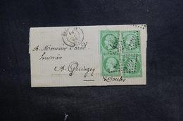 FRANCE - Lettre De Besançon Pour Quingey En 1864 , Affranchissement Napoléon 5cts X4 - L 36689 - 1849-1876: Période Classique
