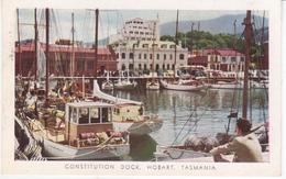 °°° 13391 - AUSTRALIA - CONSTITUTION DOCK , HOBART , TASMANIA - 1958 With Stamps °°° - Hobart