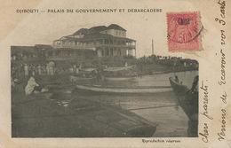 Djibouti Palais Gouvernement Et Debarcadère  Envoi De Shanghai Chine Type Mouchon Vers St Germain Mont D' Or - Gibuti