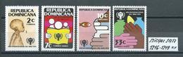 DOMINIKANISCHE REPUBLIK MICHEL SATZ 1216 - 1219 Postfrisch Siehe Scan - Dominikanische Rep.