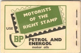 """1954, NEW ZELAND. Stamp Booklet Advertising """"BP PETROL AND ENERGOL"""" - Auto's"""