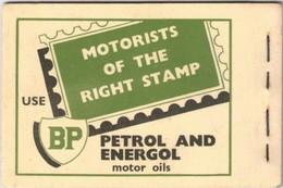 "1954, NEW ZELAND. Stamp Booklet Advertising ""BP PETROL AND ENERGOL"" - Voitures"
