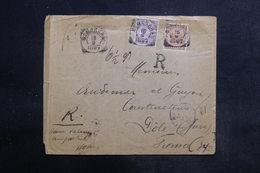 INDES NÉERLANDAISES - Enveloppe En Recommandé De Bemarang Pour La France En 1897, Affranchissement Plaisant - L 36699 - Nederlands-Indië