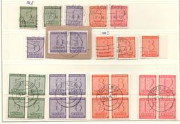 SBZ Westsachsen Gest.geschn. Ausgaben Gest. Mit PF, Einheiten - Sowjetische Zone (SBZ)