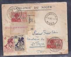 Enveloppe Locale Journée Du Timbre 1945 Niamey - A.O.F. (1934-1959)