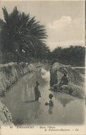 Touggourt Oasis Palmiers Dattiers Enfants Nus Se Baignant - Algérie