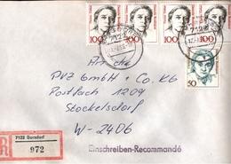 ! 1 Einschreiben 1993 Mit Alter Postleitzahl + DDR R-Zettel  Aus 7122 Borsdorf, Sachsen - BRD