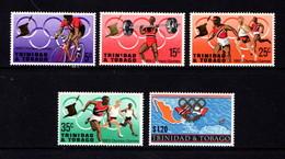 TRINIDAD  AND  TOBAGO    1968    Olympic  Games    Set  Of  5    MH - Trinidad & Tobago (1962-...)