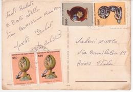 °°° 13396 - CABO VERDE - PRAIA VIEWS  - With Stamps °°° - Capo Verde