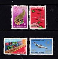 TRINIDAD  AND  TOBAGO    1969    1st  Anniv  Of  Carifta    Set  Of  4    MH - Trinidad & Tobago (1962-...)