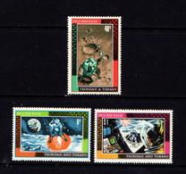 TRINIDAD  AND  TOBAGO    1969    First  Man  On  The  Moon    Set  Of  3    MH - Trinidad & Tobago (1962-...)
