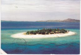 °°° 13397 - FIJI - VIEW OF NAVINI ISLAND RESORT - 1989 With Stamps °°° - Figi