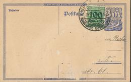 Infla Notausgabe 100.000 Mk Auf 400 Mk - Auf Karte         [18/0026] - Gebraucht