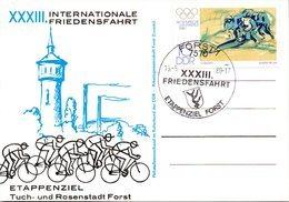"(DDR-SB) DDR Sonderkarte ""XXXIII. INTERNATIONALE FRIEDENSFAHRT""  EF Mi 2478 SSt 13.5.80 FORST - Ciclismo"