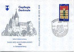 """(DDR-B2) DDR Sonderumschlag """"Gepflegte Denkmale - Schloß Schwarzenberg"""" EF Mi 2891 SSt. 3.9.1984 SCHWARZENBERG - Schlösser U. Burgen"""