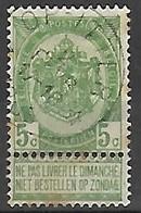 OCB Nr 56 Ster Relais Stempel OP - ITTER - 1893-1907 Coat Of Arms