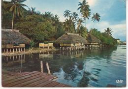 °°° 13399 - POLYNESIE FRANCAISE - TAHITI - ILE DE TAHAA - VILLAGE JUNGLE DE TIVA - 1973 °°° - Polinesia Francese