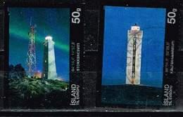 Island 2011/12, Michel# 1309, 1366 O Stokknes Lighthouse/Lighthouses II - The Kálfshamar Lighthouse - 1944-... Republic
