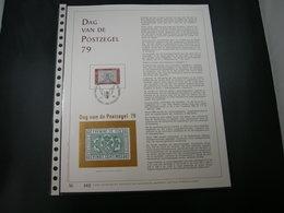 "BELG.1979 1929 FDC Filatelic Gold Card NL. : "" DAG VAN DE POSTZEGEL 79 "" - 1971-80"