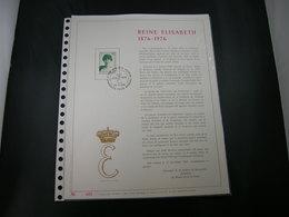 """BELG.1976 1808 FDC Filatelic Gold Card FR. : """" REINE ELISABETH """" - 1971-80"""