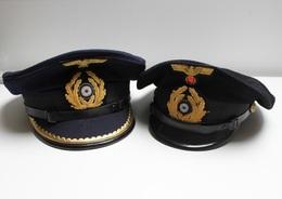 Casquettes Kriegsmarine Schirmmütze - Militaria Allemand WW2 39/45 - Marine Allemande - U-Boat - Uniforms