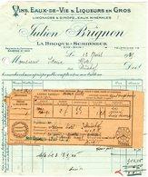 Factures .  Schirmeck  Julien  Brignon Vins Eaux De Vie Liqueurs  1935     (Bon Etat) - Alimentaire