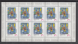 A S44 ) Free Shipping To // LITHUANIA 1997 Fairy Tales And Legends  Europe CEPT / 2 Miniature Sheet **/MNH - Fairy Tales, Popular Stories & Legends