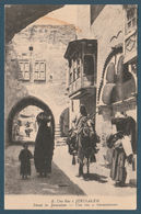 Palestine - RARE - Vintage Post Card - Street In JERUSALEM - Egypte