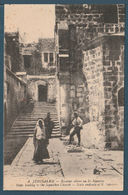 Palestine - RARE - Vintage Post Card - JERUSALEM - Steps Leading To Church - Egypte