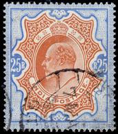 """India 1909 Edward 25r Used With """"BOMBAY"""" Cancel SG 147 £1800 - India (...-1947)"""