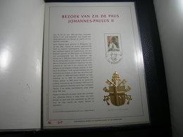 "BELG.1985 2166 FDC (Antwerpen) Filatelic Gold Card NL. : "" BEZOEK VAN Z.H  PAUS JOHANNES-PAULUS II "" - FDC"