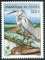 Congo 2001 120f Bird Oiseau Egretta Garzetta Grande Aigrette White Egret. Mint UHM - Kranichvögel