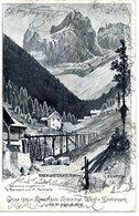 ROSENGARTENSPITZE/Cima Catinaccio, Südtirol/Trentino,Dolomiten,  Krummholz-Kränzchen, Weigls Dreherpark, 17.2.1900 - Trento