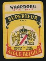 BIER  SUPERIEUR  A / B BRUGGE  GENT  AIGLE BELGICA  8 X 5.5 CM - Bière
