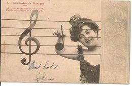 L60A030 - Les Notes De Musique - ...On Y Trouve Le Sol - Bergeret N°05 - Carte Précurseur - Bergeret