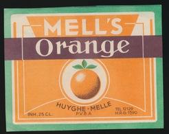 MELL'S ORANGE  HUYGHE  MELLE   9 X 7 CM - Etiquettes