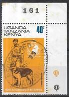 KUT 1973 50th Anniversary Of Interpol - 40c Police Dog-handler FU - Kenya, Uganda & Tanzania