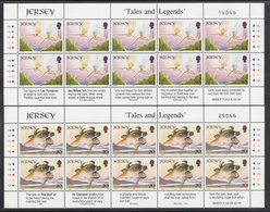 A S44 ) Free Shipping To // Jersey 1997 Fairy Tales And Legends  Europe CEPT /  4 Miniature Sheet **/MNH - Fairy Tales, Popular Stories & Legends